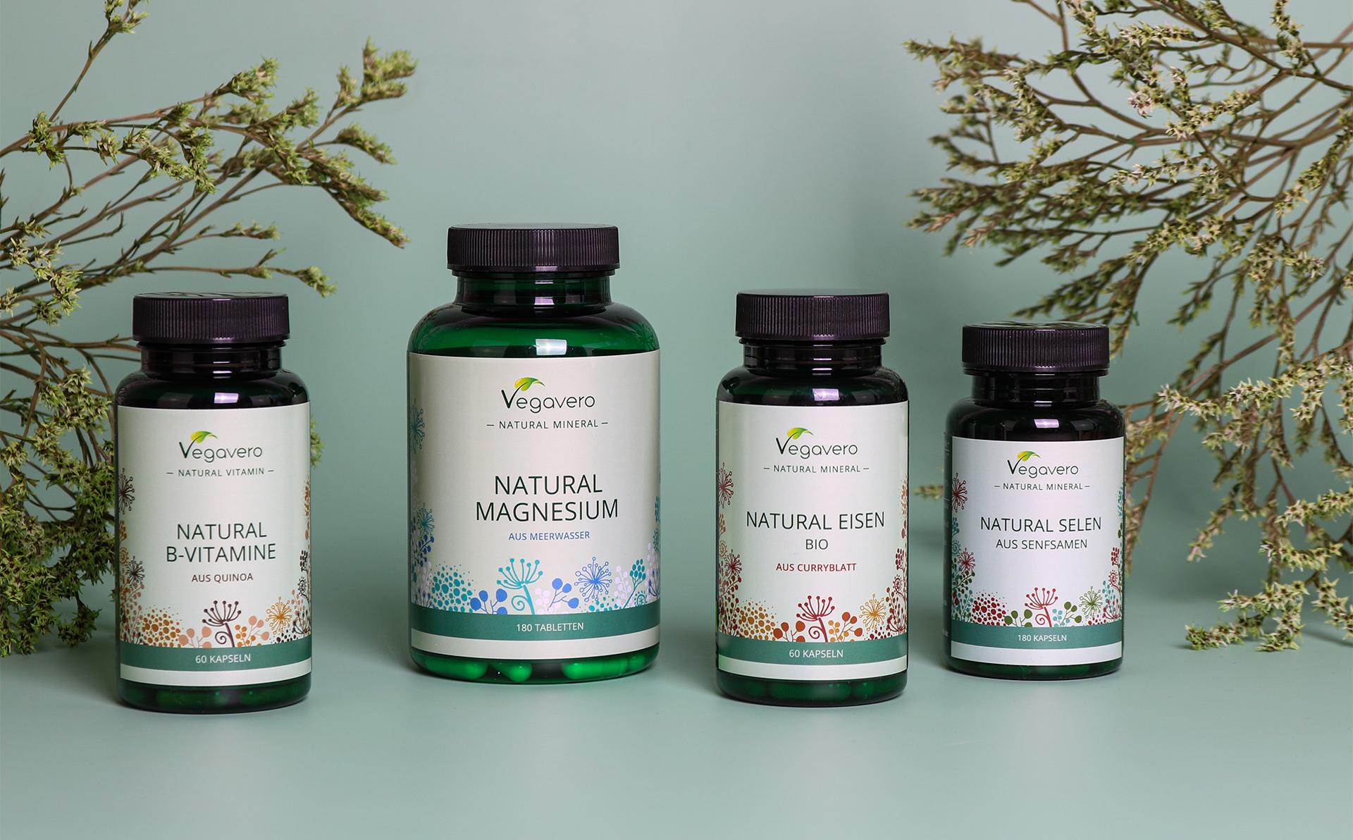 Notre nouvelle ligne Vegavero Natural : des vitamines et des minéraux issus de la nature !