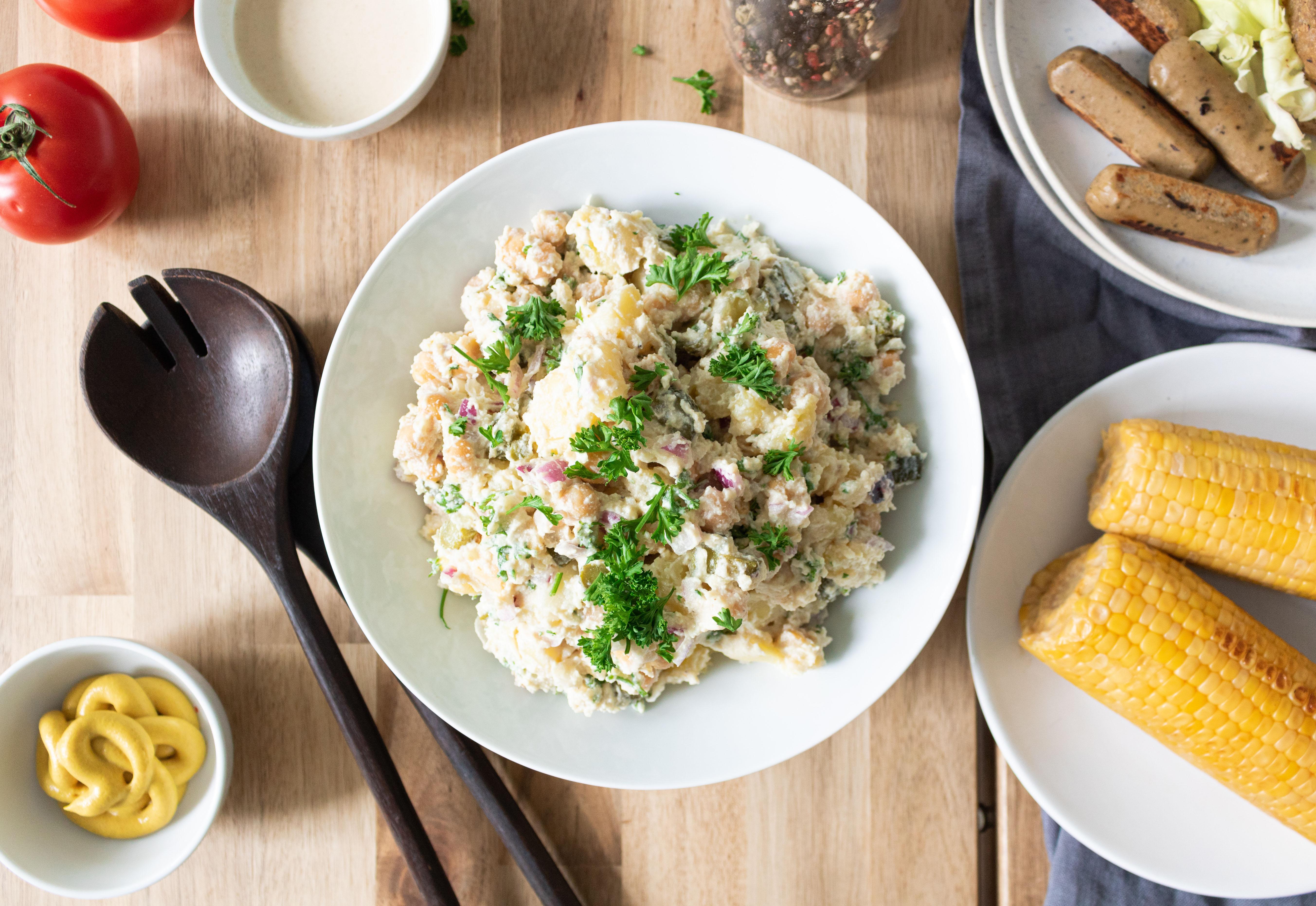 Salade de pommes de terre avec mayonnaise vegan