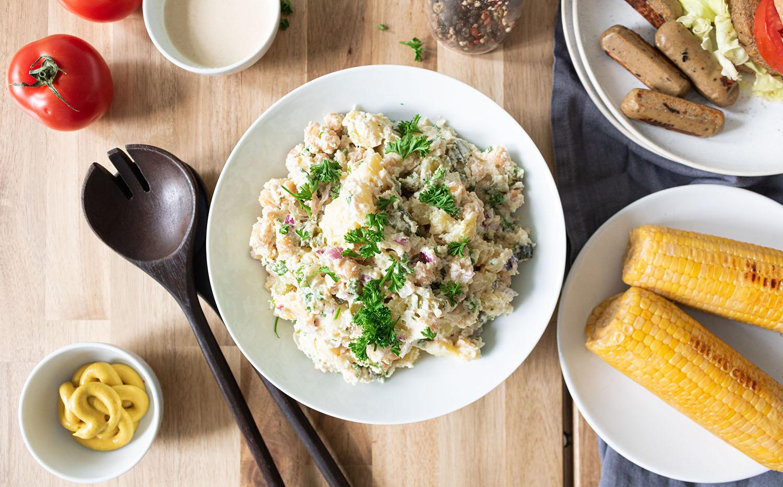 Sencilla receta de ensalada de patatas con mayonesa vegana ¡deliciosa!