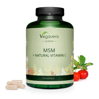 MSM + Vitamina C Natural (270 cápsulas)
